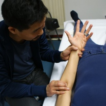 Figure 5.2.2 Identification of the trigger point through palpation.